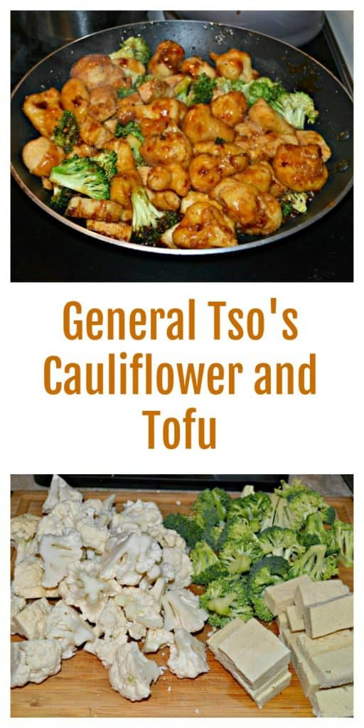 Everything you need to make General Tso's Cauliflower and Tofu