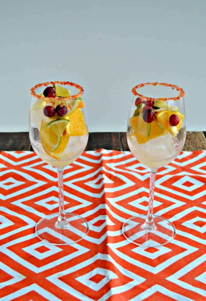 Garnishes for Orange Cranberry Sangria