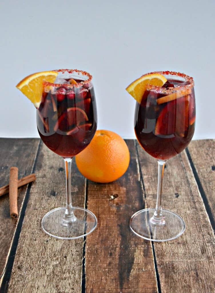 Spiced Orange Cranberry Sangria