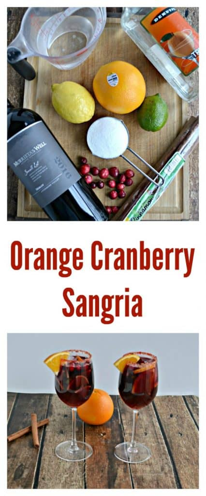 Everything you need to make Orange Cranberry Sangria