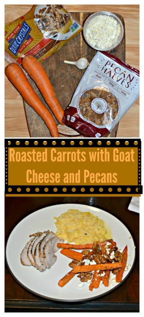 Roasted Carrots with Goat Cheese and Pecans
