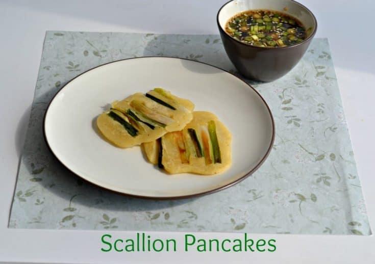 Scallion Pancakes with Korean Dipping Sauce