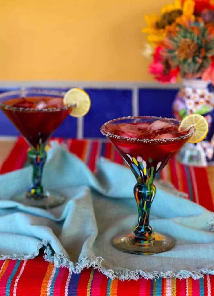 Perfect Hibiscus Margaritas