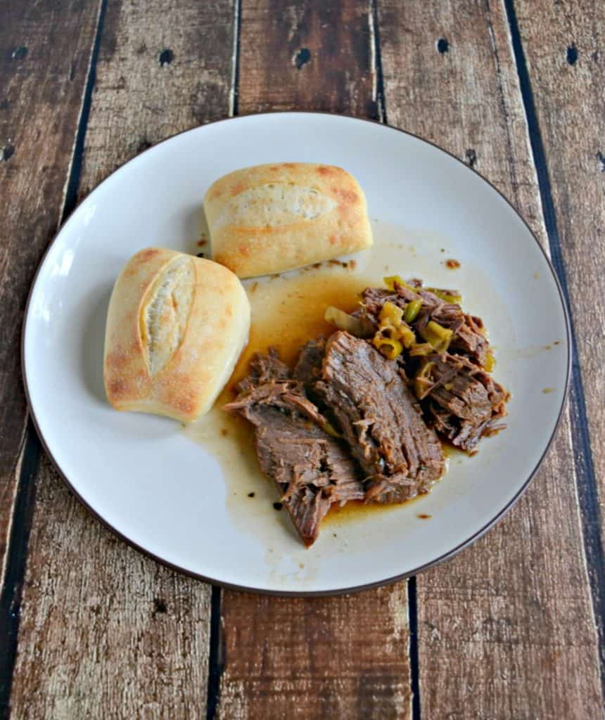 Spicy Instant Pot Mississippi Roast with bread