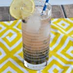 Skinny Blueberry Lemon Vodka Fizz