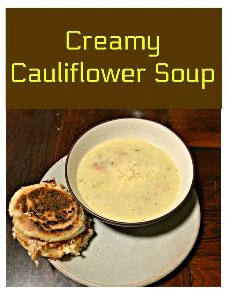 Grab a spoon and enjoy this Creamy Cauliflower Soup