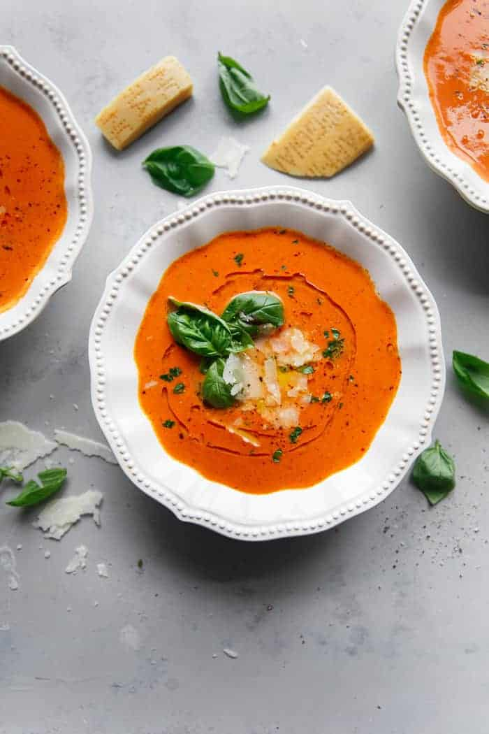 Homemade Tomato Basil Soup Recipe (Instant Pot)