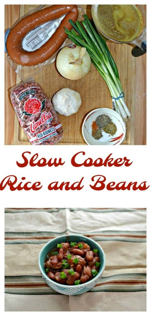 Everything you need to make Slow Cooker Rice and Beans