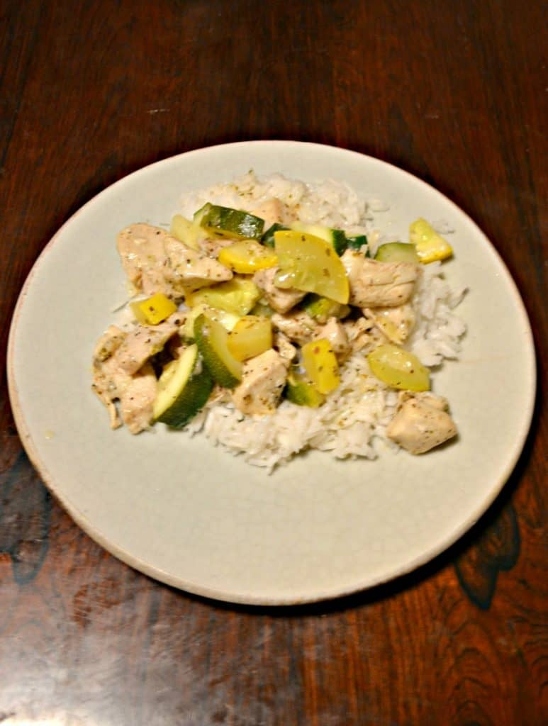 Skillet Lemon Parmesan Chicken with Zucchini and Squash