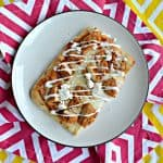 Air Fryer Buffalo Chicken Flatbread Pizza