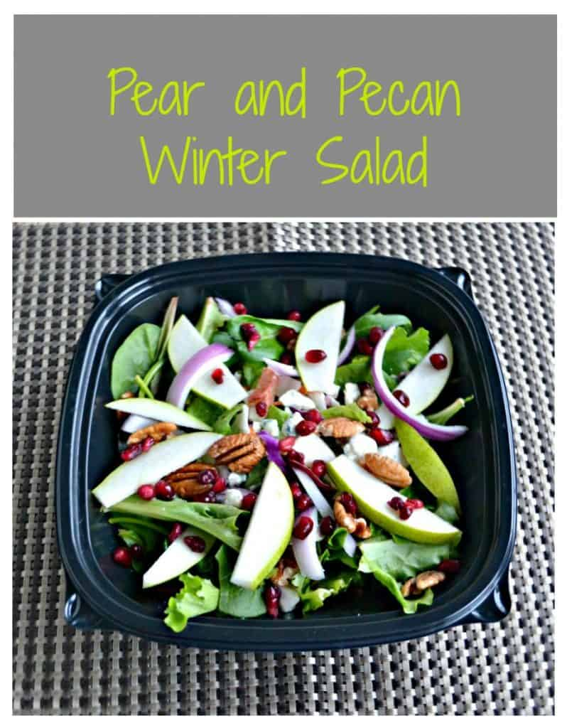 Pear and Pecan on mixed greens