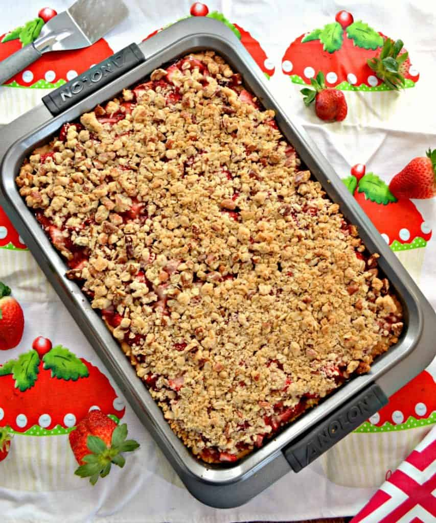 A pan of Strawberry Pie Bars