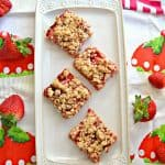 Strawberry Pie Bars #SpringSweetsWeek