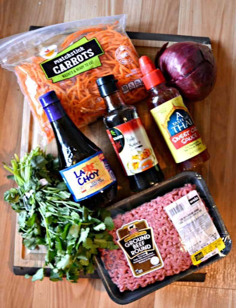 Everything you need to make Bahn Mi meatballs