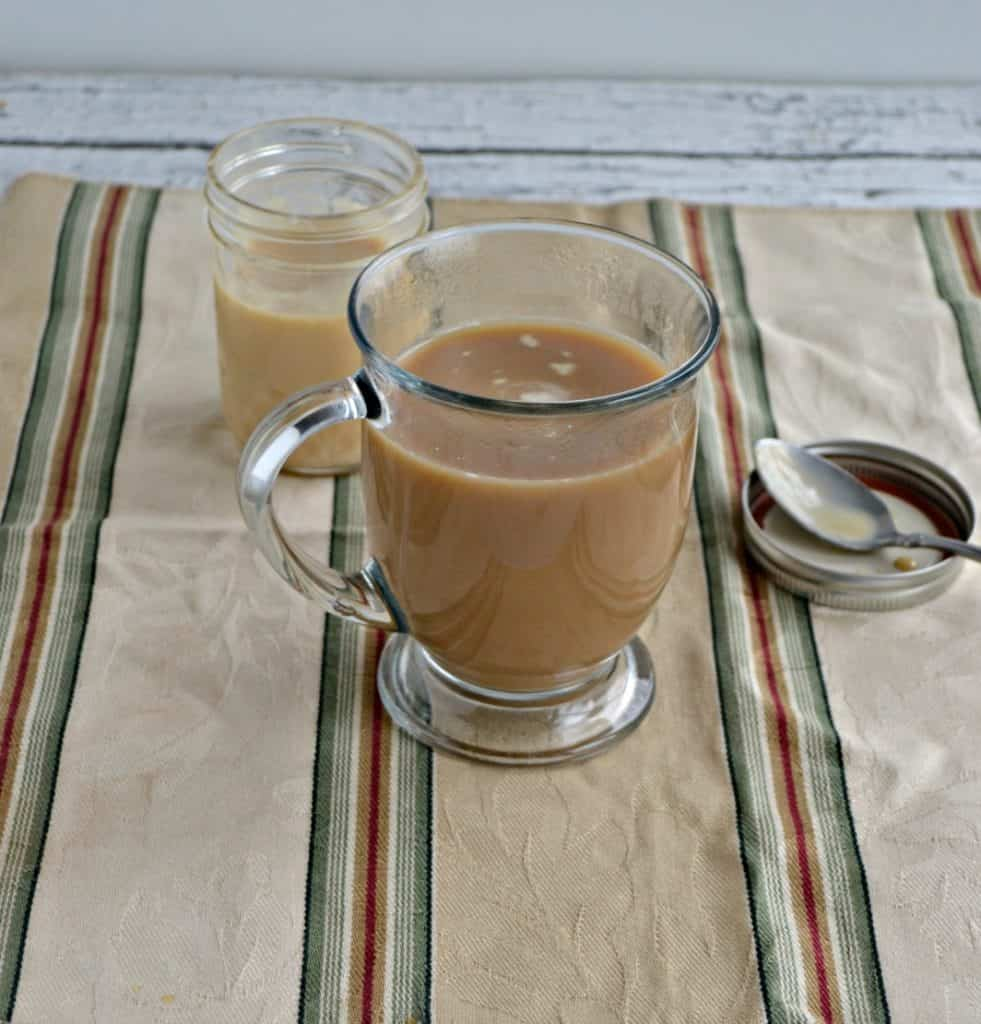 Coffee with Homemade Butterscotch Creamer