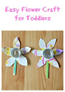 Easy Flower Craft for Toddlers:  Toddler Tuesdays