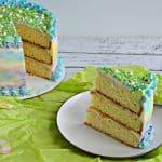 Spring Watercolor Triple Layer Cake #SpringSweetsWeek