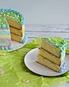 Spring Watercolor Triple Layer Cake #SpringSweetsWeek