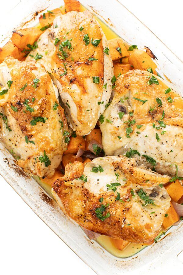 Baked Chicken and Sweet Potatoes - The Lemon Bowl®