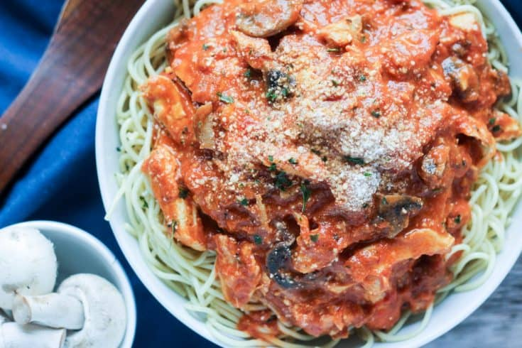Chicken Mushroom Pasta with Rosa Sauce