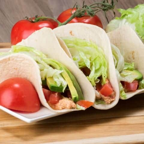 Slow Cooker Chicken Cheese Tacos
