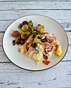 Chicken topped with Antipasto ingredients