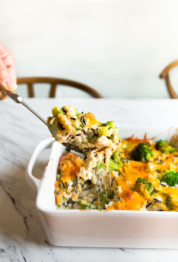 Broccoli Rice Casserole with Chicken