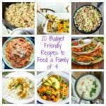20 Budget Friendly Recipes to Feed a Family of 4