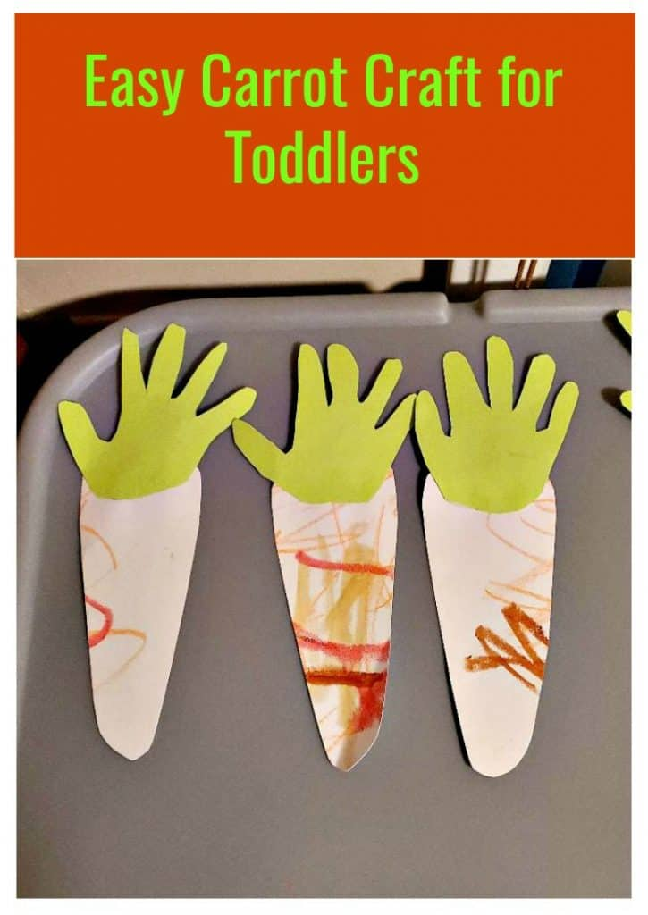Easy Carrot Craft for Toddlers