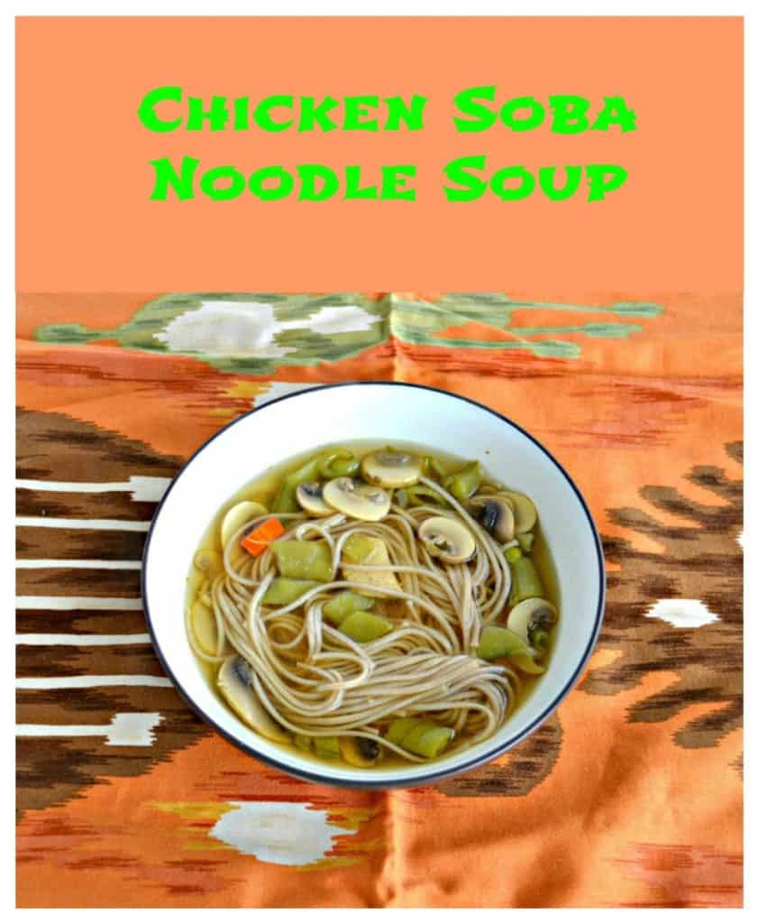 Chicken Soba Noodle Soup-Pinterest image with text overlay