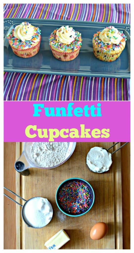 Funfetti Cupcakes with buttercream frosting