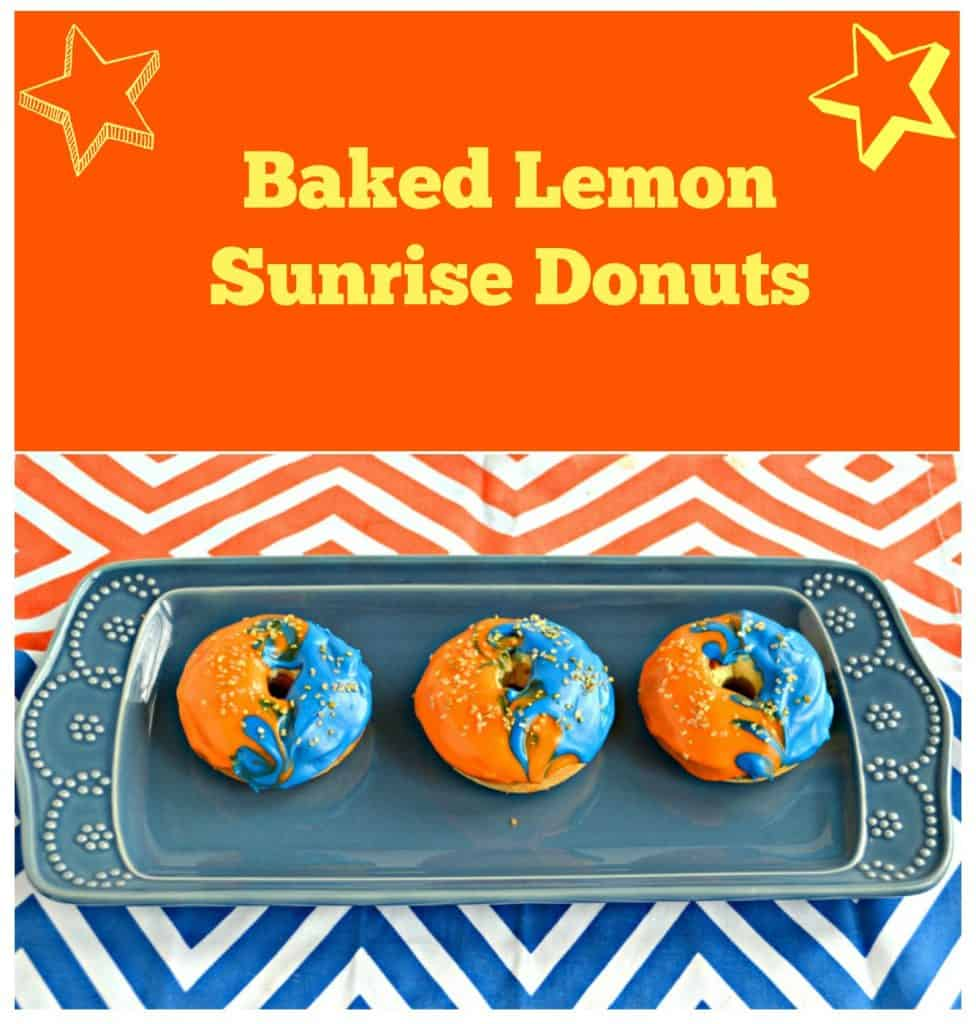 Baked Lemon Sunrise Donuts