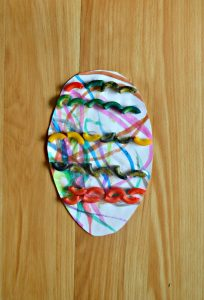 Pasta Easter Egg Craft for Toddlers