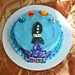 Rocket Cake for a Space Party :   Toddler Tuesdays