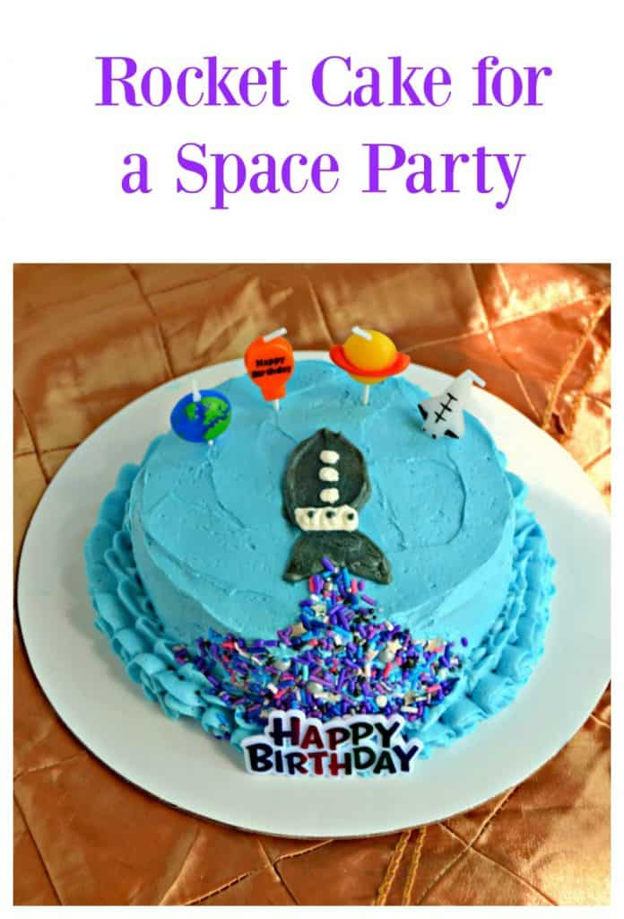 Rocket Cake for a Space Party