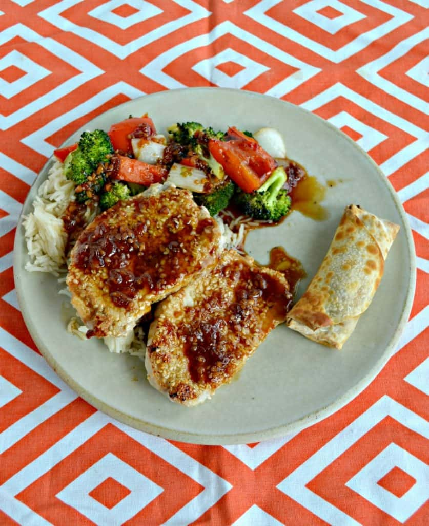 Sesame Crusted Pork Chops