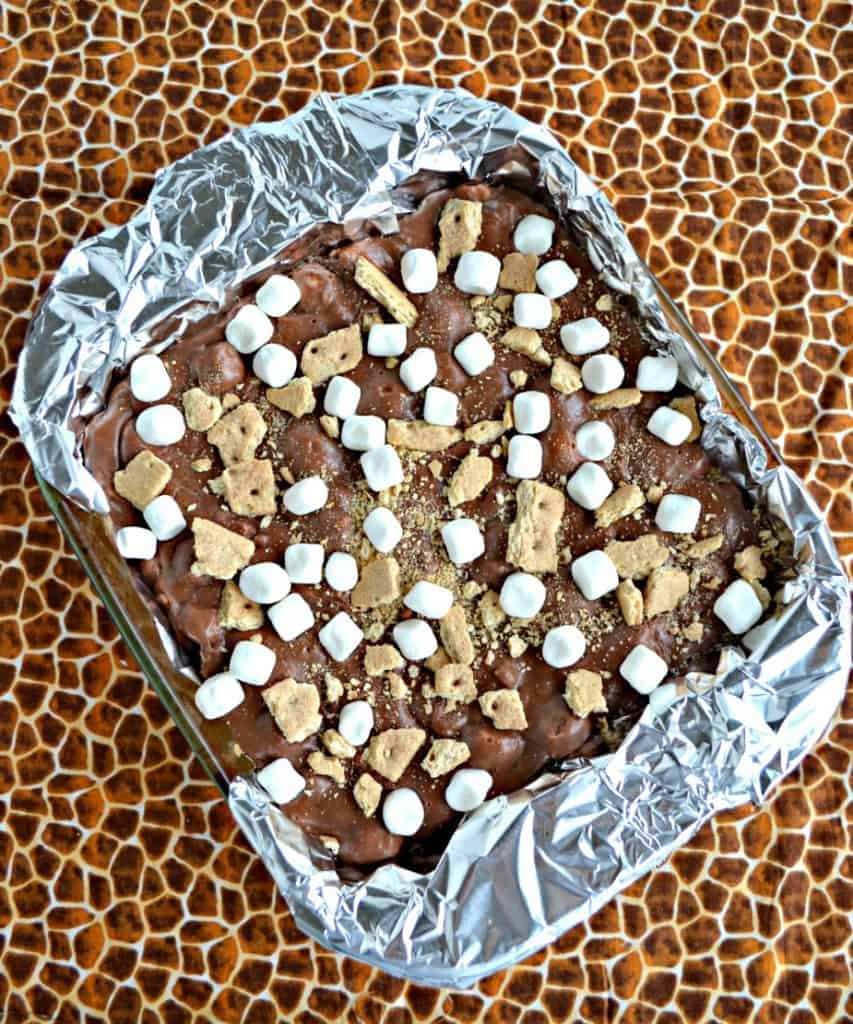 A pan of fudge