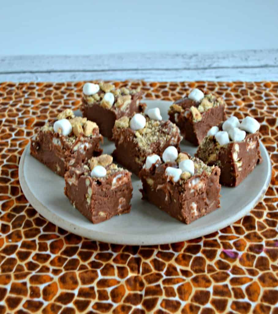 Pieces of Old Fashioned S'mores Fudge
