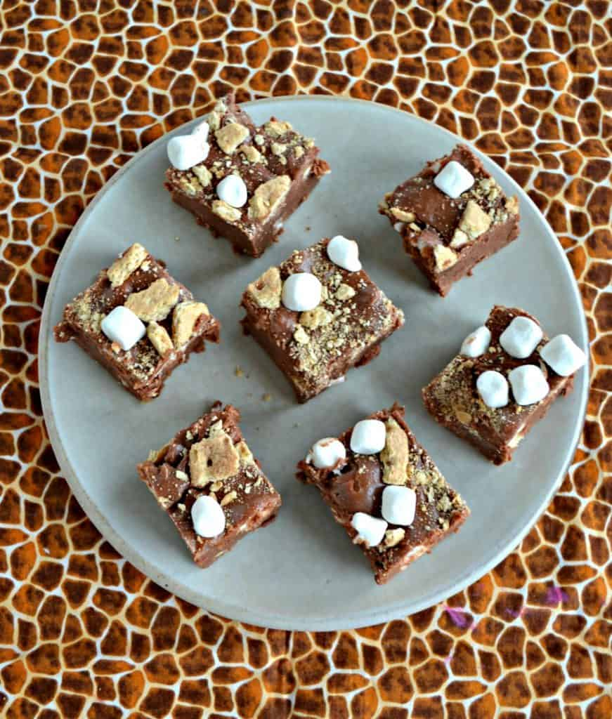 A plate of S'mores Fudge