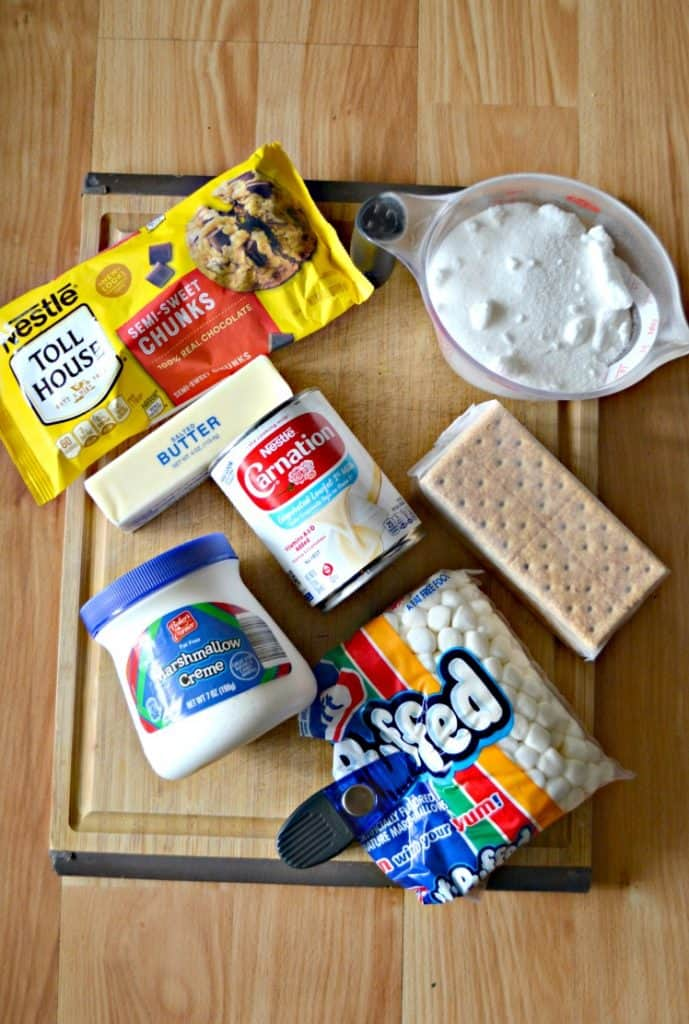 Everything you need to make Old Fashioned S'mores Fudge