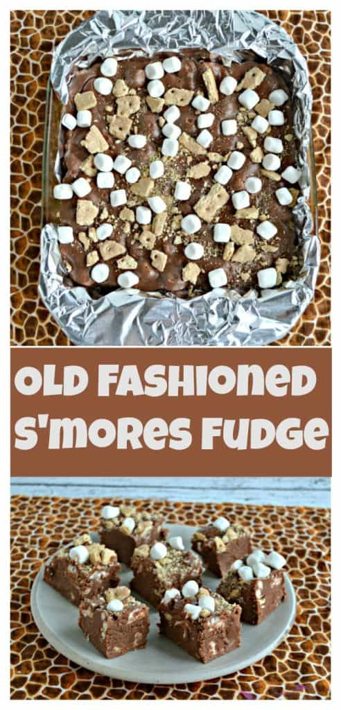 Old Fashioned S'mores Fudge-Pinterest Image with words