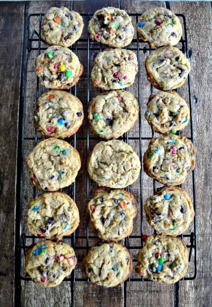 Sugar Cone Chocolate Chip Cookies out of the oven