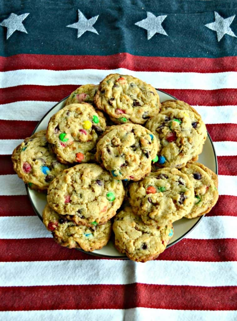 Sugar cone and M&M cookies