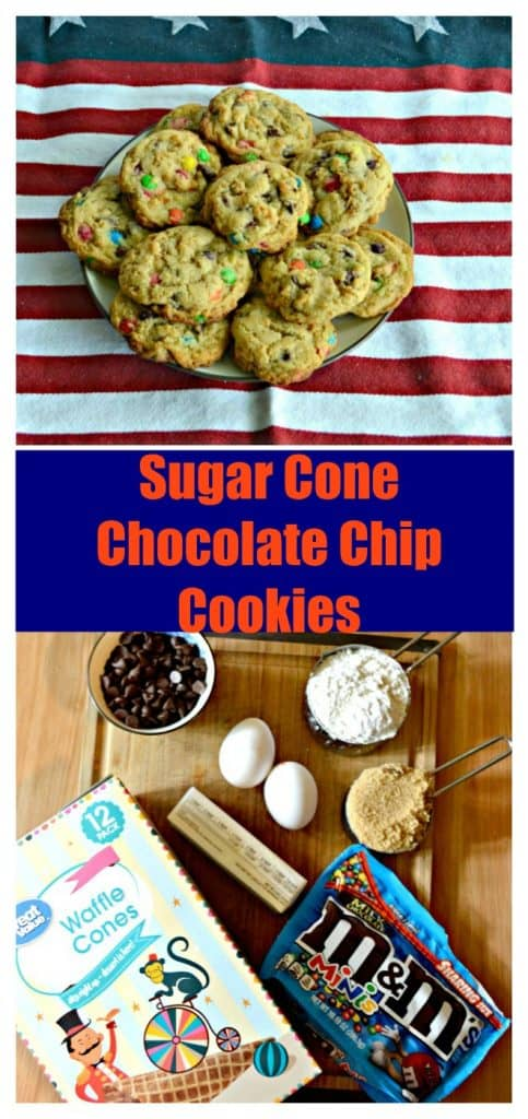 Everything you need to make Sugar Cone Chocolate Chip Cookies