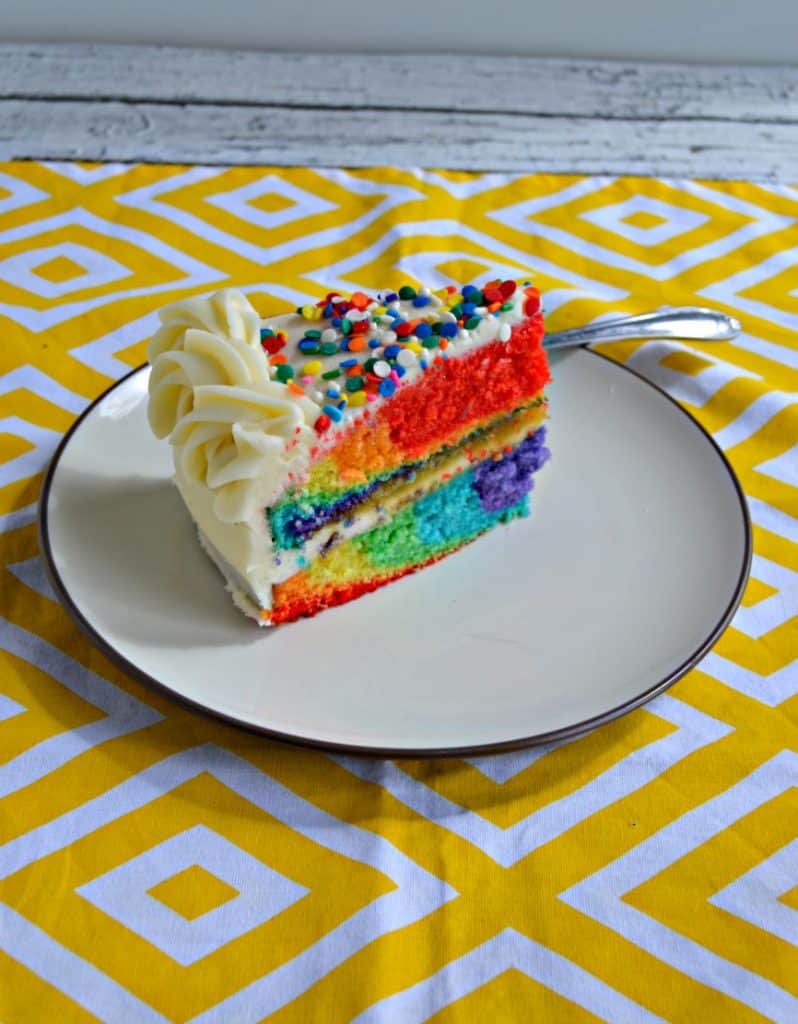 Rainbow Tie Dye Cake with Buttercream Frosting