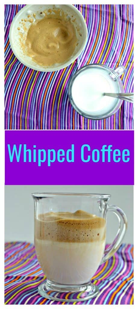Just 4 ingredients make Whipped Coffee