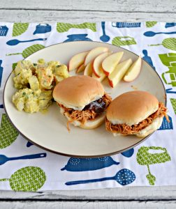 BBQ Chicken Sliders with potato salad