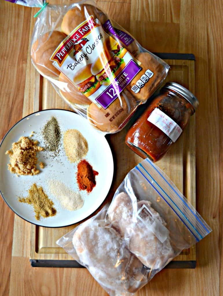 Ingredients for Instant Pot BBQ Chicken Sliders