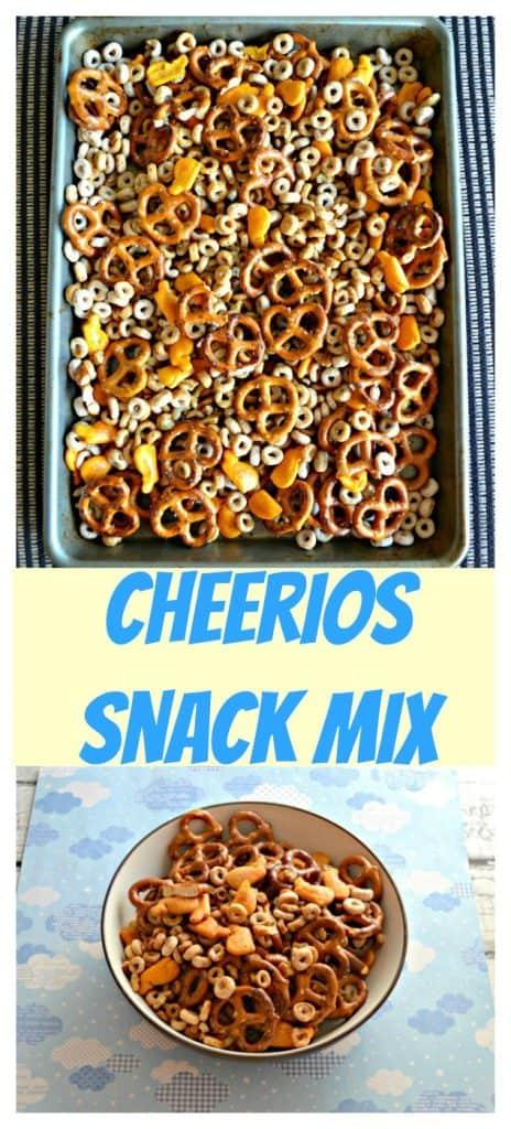 Pinterest Image: Cheerios Snack Mix