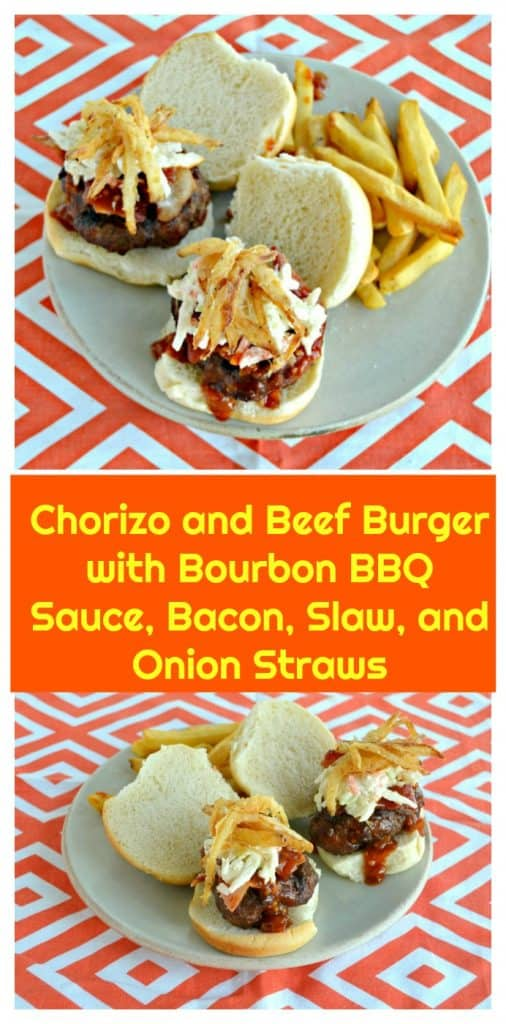 Pinterest Image-Chorizo and Beef Burgers with text overlay